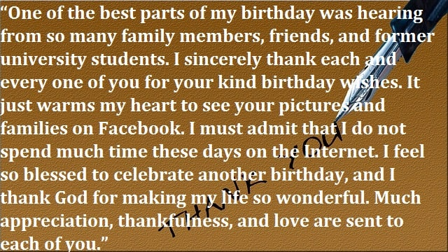 Thank You For Happy Birthday Wishes