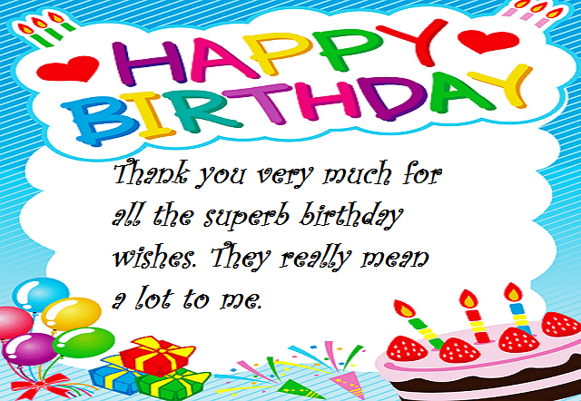 Reply to Happy Birthday Wishes